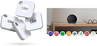 $114 » Tile Mate 4-Pack -Bluetooth Tracker,Keys Finder and Item Locator for Keys,Bags and More;Water Resistant with 1 Year Replac...