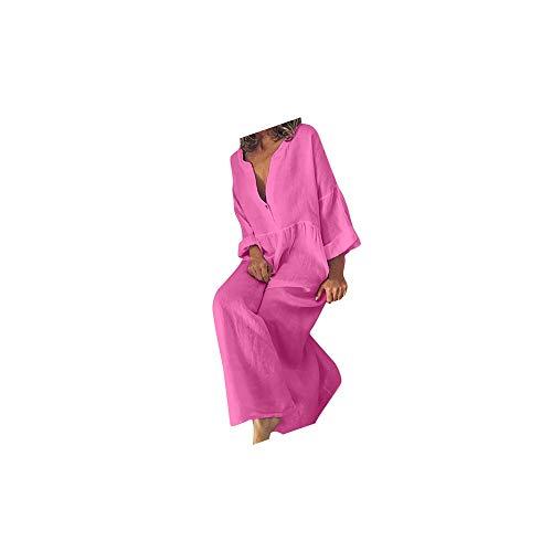 Kanpola Damen Kleid Lange Kaftan Strand Tunika GroßE GrößEn Leinen Und Baumwolle Sommerkleid Marokkanische Kleider