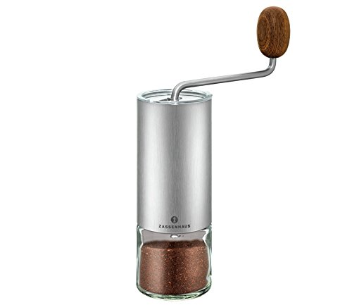 Zassenhaus 0000041095 Kaffee-/Espressomühle Quito, Edelstahl, 1,000 x 1,000 x 1,000 cm