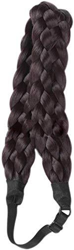 Bohemia Zopf Haarbänder Perücke Stretch 5 Strähnen Zöpfe Stirnband mit verstellbarem Twist Zopf für Party Cosplay Haar Perücken