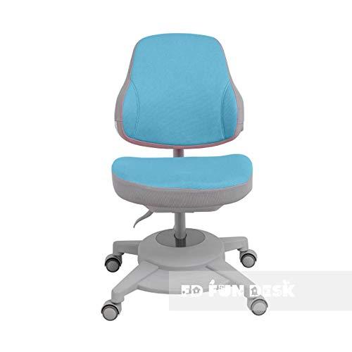 FD FUN DESK Agosto Blue höhenverstellbarer Stuhl, ergonomischer Schreibtischstuhl für Kinder, Blau, 680x460x785 mm