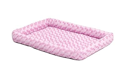 """18L-Inch Pink Dog Bed or Cat Bed w/ Comfortable Bolster 