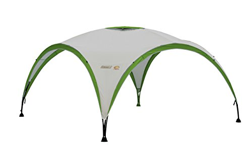 Coleman Gazebo, Event Shelter Pro for Garden and Camping, Sturdy Steel Poles Construction, Large Tent, Portable Sun Shelter with Protection SPF 50, White and Green