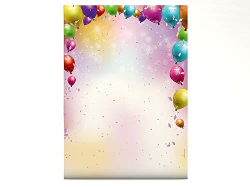 Party Feiern Karneval Motivpapier Konfetti, 100 Blatt Briefpapier DIN A4, 90g/qm