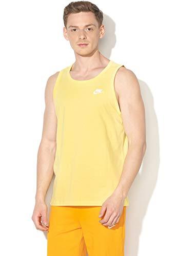 Nike Herren M NSW Club Tanktop, Gelb (yellow pulse/White), M