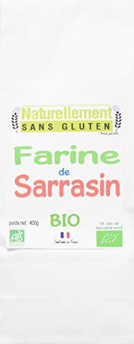 NATURELLEMENT SANS GLUTEN Farine de Sarrasin Bio 400 g - Lot de 3