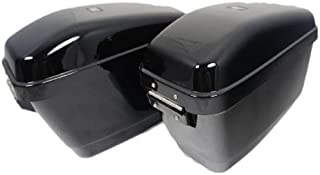 Mutazu 283900005 Vivid Black GA Hard Saddlebags