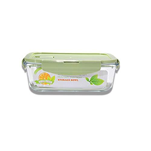 Lot de 2 boîtes de rangement en verre avec couvercles pour nourriture, rond/carré multi-spécifications, accessoires de cuisine adaptés pour portable (2 pièces)