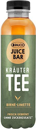 Rauch Juice Bar Kräutertee Birne Limette ohne Zucker, 12 x 500ml inc. 3,00€ EINWEG Pfand