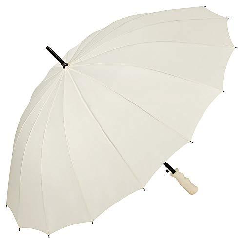 VON LILIENFELD® Regenschirm Auf-Automatik Hochzeitsschirm Brautschirm Gross Stabil Colin Creme