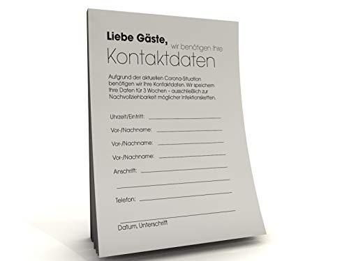 Kontaktdaten-Zettel für Gastronomie (100)