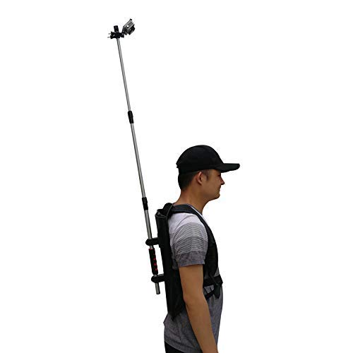 Wearable 3rd Person View Camera Backpack Mount w/Selfie Stick Monopod Pole for Gopro/SJCAM/Yi / Insta360 one x/Rylo/Garmin VIRB 360 / Samsung Gear 360 Video 4K HD Panoramic VR Cameras
