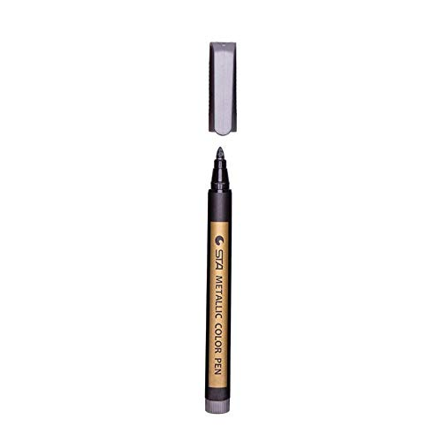 CPBH 1個カラー蛍光ペン防水恒久メタリックマーカーペン用白板紙クラフト紙フォトアルバムDIYのジュエリー (色 : グレー)