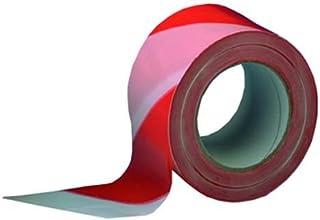 6 ROTOLI NASTRO ADESIVO SEGNALETICO in PVC 50 mm X 62 mt BIANCO ROSSO PER DISTANZA SICUREZZA IFPVCR66