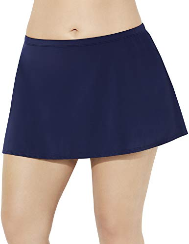 Swimsuits for All Women's Plus Size Skirt 28 Blue