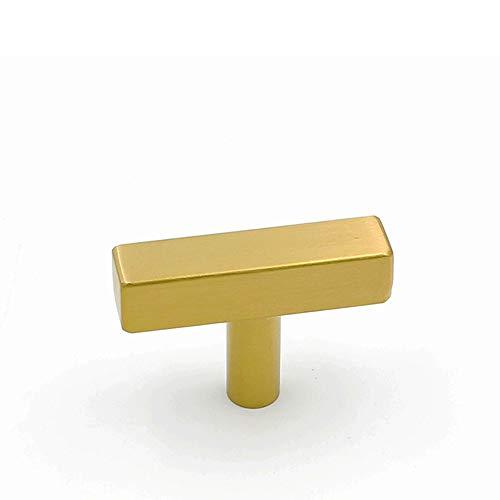 10 Pack goldenwarm Brushed Brass Drawer Knobs - LS1212GD Cabinet Knobs Gold Drawer Knobs Knobs for Kitchen Cabintes Bathroom Hardware