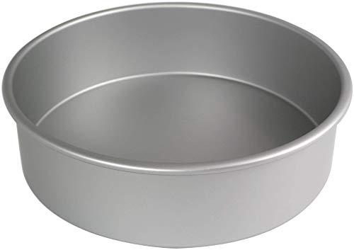 PME RND124 Molde Redondo Extra Profundo de 30 x 10cm, Aluminio, Plateado, 30 cm