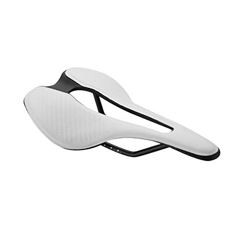 Alston Professional Bike Seat Suspension Gel Bike Saddle Breathable Comfortable Bicycle Seat Ergonomics Design Fit Mountain Bike Road Bike- S2 (White)