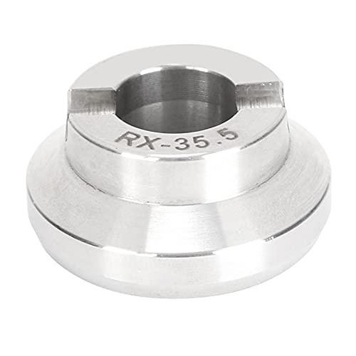 Matriz para abridor de reloj, acero inoxidable Matriz de abridor de caja de reloj profesional para abrir Caja trasera de reloj para de batería de reloj de cuarzo(35,5 mm)