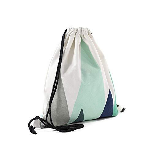 Nacnic Mochila de Asas con diseño. Hecha con Tejido Resistente de algodón. Color Azul