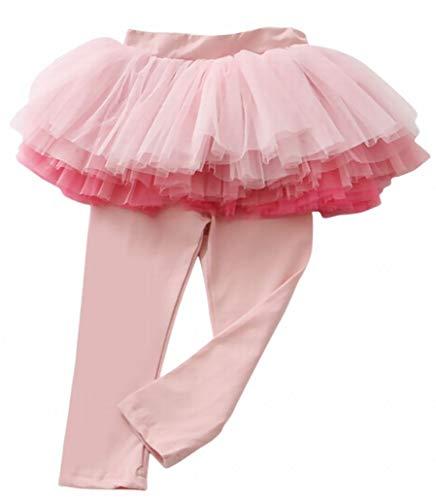 Plus Nao(プラスナオ) スカート付きレギンスパンツ レギンス付きスカート チュチュスカート ミニスカート スパッツ 子供服 こども服 ボトム ピンク 100cm