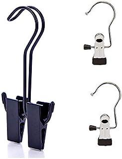 Cintre en acier inoxydable, pince à chaussures pour bottes, pinces de cintre à linge avec crochets, étendoir pour sac à dos