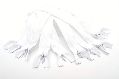 Trimz Zip-10pc Zip Invisible Blanc Taille 60 cm