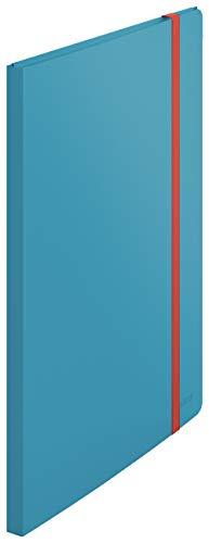 Leitz A4 Sichtbuch, 20 Klarsichthüllen für 40 Blatt, Sanftes Blau, Cosy-Serie, 46700061