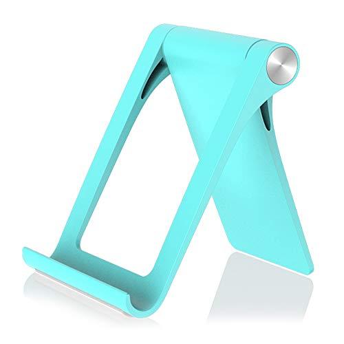 Hourongw Soporte para teléfono móvil, plegable, universal, soporte para teléfono móvil y tableta, ángulo ajustable de 360°, estable y antideslizante, simple soporte para smartphone de escritorio