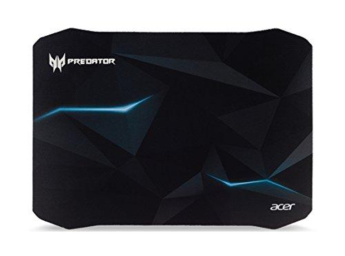 Predator Gaming Mauspad (reibungsarme Faseroberfläche, selbstleuchtendes Predator Logo, Unterseite aus Naturkautschuk, leicht zu reinigen, Größe M, Spirits Design) schwarz