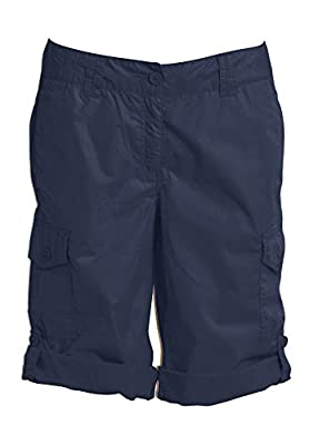 ellos Women's Plus Size Convertible Cargo Shorts - 18, Navy