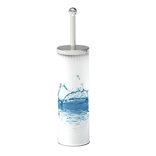 FRANDIS 191214 Pot + Brosse WC métal décor ECLAT d'eau Ø 9,3 X 39 CM