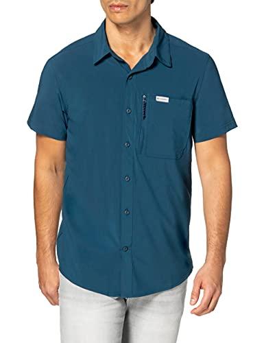 Columbia Triple Canyon II, Camicia A Maniche Corte Uomo, Petrol Blue, L