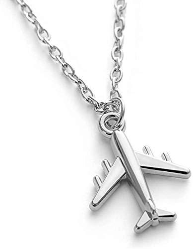 niuziyanfa Co.,ltd HandmadeColor Flugzeug Anhänger Halskette Flugzeug Halsreif Legierung Schlüsselbein Kette für Frauen Männer Schmuck