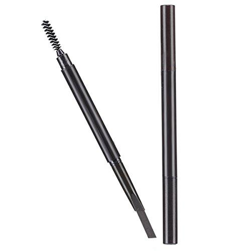 Brauenstifte Automatisch Wasserdicht Gedrehte Make Up Stift Eyeline Augenbrauenstift + Pinsel (Licht Kaffee 3#)