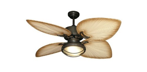Gulf Coast Bombay Tropical Ceiling Fan in Oil Rubbed Bronze...