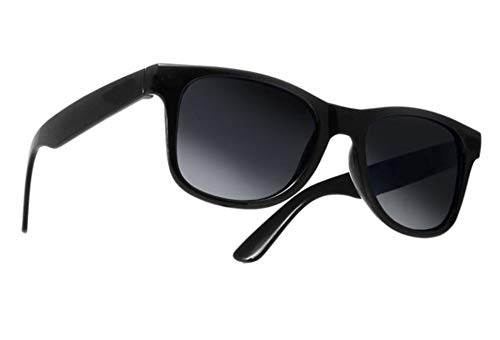 morefaz Damen Herren Lesebrille Sonnenbrille +Zip Case +1.5 +2.0 +3.0 +4.0 Slim Sun Readers Perfekt für den Urlaub Retro Vintage Brille MFAZ Ltd (+2.00 Sun, Black)