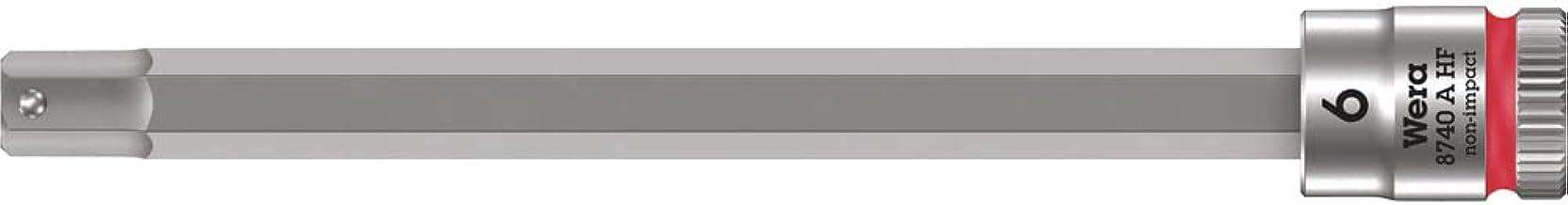 """Wera 05003338001 8740 A HF Zyklop z napędem 1/4"""" z funkcją trzymania, 6,0 x 100 mm, kolor czerwony"""