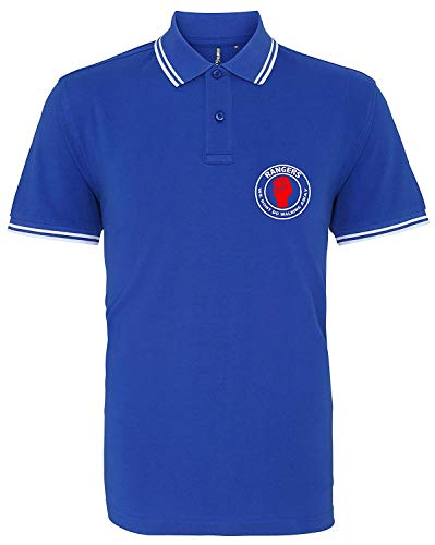 Rangers Northern Soul Casual Football Mens Polo Shirt Unofficial (Extra Large)