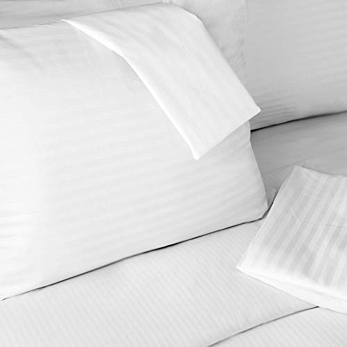 FeelAtHome 100% Cotton Pillow Cover with Zipper Waterproof Covers (Pack of 2, Standard) - Noiseless Pillowcase Cover - Zippered Pillow Case Covers