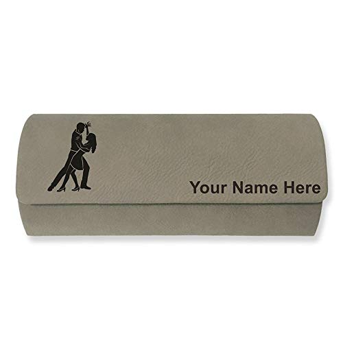 Sunglass Case, Salsa Dancers, Personalized Engraving Included (Light Brown)