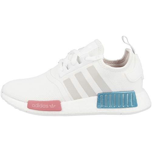 adidas NMD_R1 W, Scarpe da Ginnastica Donna, Ftwr White/Grey One/Hazy Rose, 41 1/3 EU
