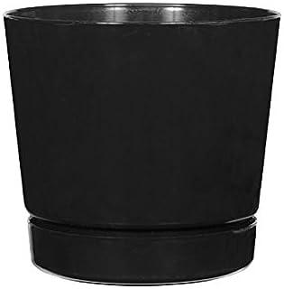گلدان استوانه ای با عمق کامل ، سیاه ، 8 اینچ