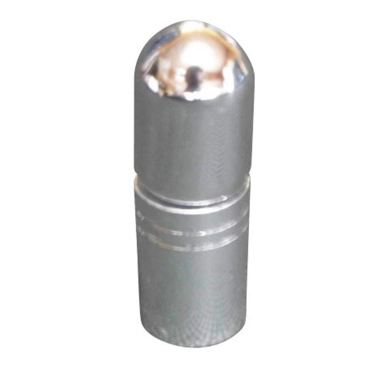 超音速ランチ奇妙なアトマイザー 携帯 持ち運び ミニ サイズ 3ml ロール オン タイプ 香水 詰め替え (シルバー)
