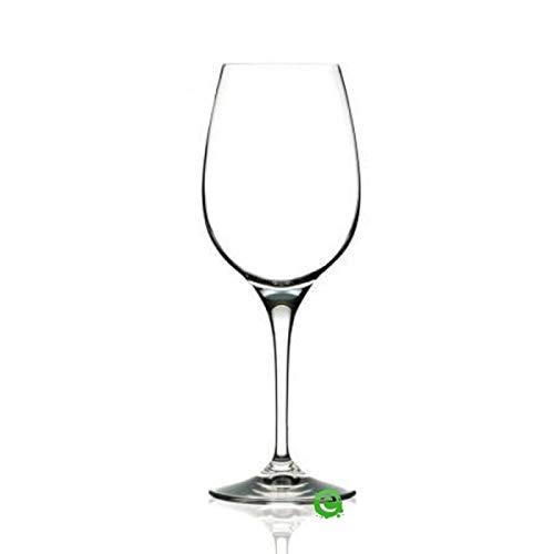 Calici Vini Bianchi Prosecco Linea Invino Crystal Glass Italiana RCR con capacità 38 cl 12 3/4 oz Confezione da 6 pezzi C 470 Design pulito ed elegante per servizi raffinati