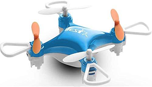 Bck 2.4GHz Control remoto Drone LED Luces LED Toys Toys One Tecla Devuelve Four-Eje Mini Presión de Aire Plegable Presión de Aire de un solo clic y Aerobatics de aterrizaje (Color : Azul)