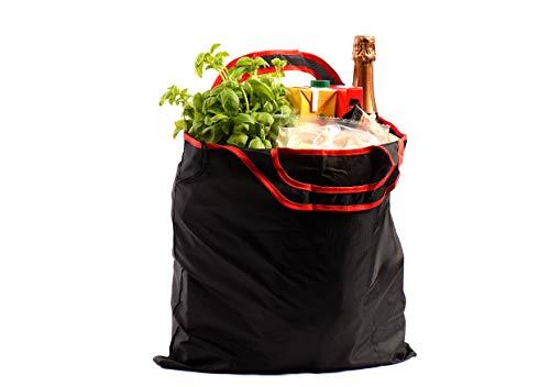 gripONE® Shopper Red - Faltbare Einkaufstasche aus hochwertiger Fallschirmseide, dadurch extrem reißfest, Ultra leicht und kompakt