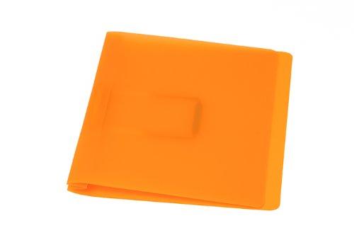 Schnellhefter, orange mit flacher, elastischer Schlauchheftung