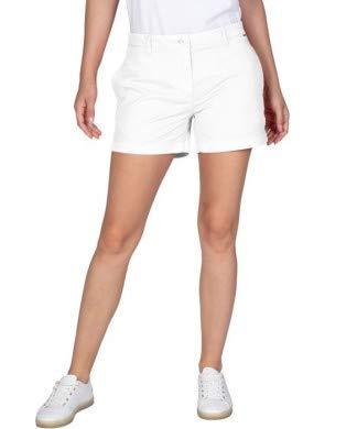 Napapijri Norwood 2 Pantalones Cortos, Blanco (Bright White 0021), 44 para Mujer