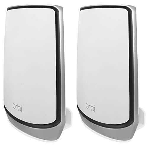UIQELYS Soporte de pared para sistema de malla Orbi Tri-Band, Orbi WiFi 6 Router, RBK752/753/850/852/853, RBS750/751, AX4200/5700/6000, 2 unidades bianco